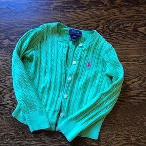 Polo cardigan - 3T - Green